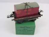 Postwar Hornby Gauge 0 No50 Low Sided Wagon with Funiture Container Boxed