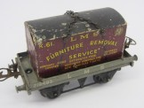 Hornby Gauge 0 LMS Flat Wagon with Furniture Container