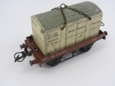 Postwar Hornby Gauge 0 BR Flat Truck with Insulated Container