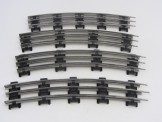 4 Lionel Gauge 0 3-Rail Tinplate Electric Track Curved Rails