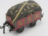 Bing Gauge 0 LSW Open Wagon with Sack Load and Tarpaulin Cover