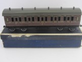 Scarce Bing Gauge 0 1921 Series GWR Lake Livery All First Bogie Coach Boxed