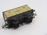 Postwar Hornby Gauge 0 No50 Low Sided Wagon with Cable Drum Boxed